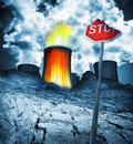 Nuclear danger radioactive disaster Stock Image