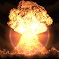 Nuclear explosion d rendering of a Stock Photos
