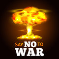 Nuclear Explosion Poster Royalty Free Stock Photo