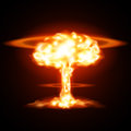 Nuclear explosion Royalty Free Stock Photo