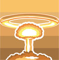 Nuclear Explosion vector Royalty Free Stock Photo
