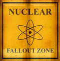 Nuclear fallout zone sign Stock Photo