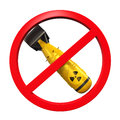 Nuclear forbidden sign isolated on white background d render Royalty Free Stock Images