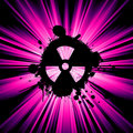 Nuclear hazard background Stock Photography