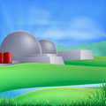 Nuclear power energy illustration of a plant generating and electricity Royalty Free Stock Photo