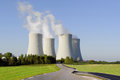 Nuclear power plant. Stock Photos