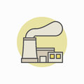 Nuclear power plant colorful icon
