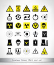Nuclear Power Plant icon set Royalty Free Stock Photo