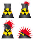 Nuclear power plant meltdown Royalty Free Stock Images
