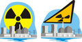 Nuclear power plant - nuclear hazard Stock Photography