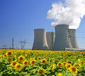 Nuclear power plant temelin in czech republic Stock Image