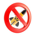 Nuclear power and radiation forbidden Royalty Free Stock Image
