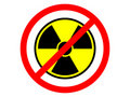 Nuclear prohibition Stock Image