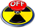 Nuclear protection d illustration of an button to switch off danger Stock Photo