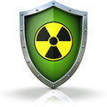 Nuclear protection d illustration of an shield against danger Stock Photos