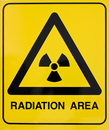 Nuclear radiation warning sign Royalty Free Stock Photography