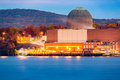 Nuclear reactor on the hudson river north of new york city Stock Photography