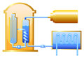 Nuclear reactor illustration of the Stock Photos