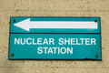 Nuclear shelter direction sign Royalty Free Stock Photos