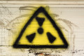 Nuclear sign graffiti Royalty Free Stock Photo