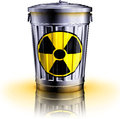 Nuclear waste d illustration of Royalty Free Stock Photography