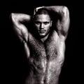 Nude Muscular Guy Posing