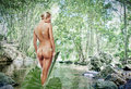 image photo : Nude woman in pond