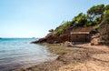 Nudist beach. Ibiza Royalty Free Stock Photo