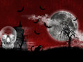 Nuit de halloween Images stock