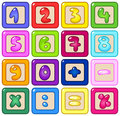 Number blocks Stock Photo