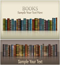Number of books new on white text vector illustration Royalty Free Stock Image