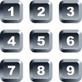 Number buttons Royalty Free Stock Photo