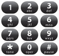 Number buttons Royalty Free Stock Photos