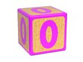 Number 0 - Childrens Alphabet Block. Royalty Free Stock Photo