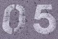 Number 5 in concrete Royalty Free Stock Photo