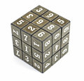 Number Cube Stock Photo