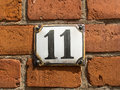 Number eleven picture of an house Stock Photos