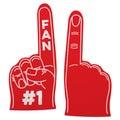 Number 1 fan foam hand Royalty Free Stock Photo