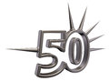 Number fifty with prickles on white background d illustration Stock Photo