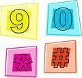 Number icons Stock Photography