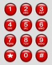 Number key pad Royalty Free Stock Images