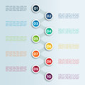 Number Linked Bullet Points In Circles Infographic Template