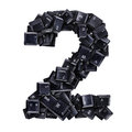 Number 2 made of keyboard buttons Royalty Free Stock Photo
