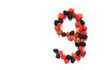 Number nine with fruits Royalty Free Stock Photo