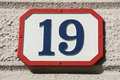 Number nineteen Royalty Free Stock Photo