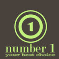 Number one company two color illustration Royalty Free Stock Photo