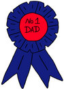 Number one dad rosette Royalty Free Stock Image