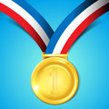 Number One Gold Medal Stock Photo