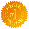 Number one gold seal Royalty Free Stock Photography