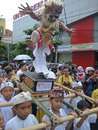The Ogoh-Ogoh Statue Parade in Semarang